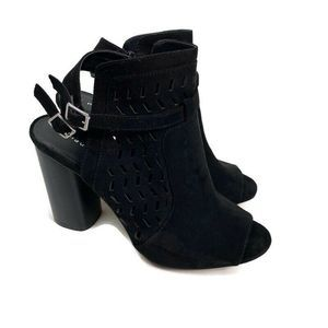 Madden Girl Addyy Heeled Bootie Sandal Cut Out